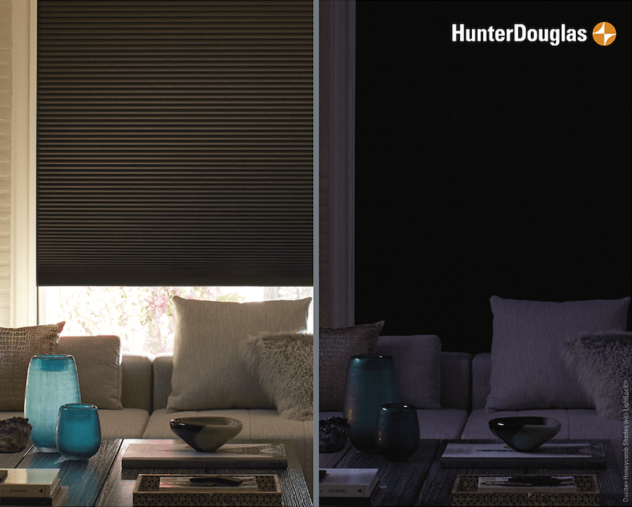 Hunter Douglas Custom Duette® Honeycomb Shades with the LightLock™ System Feature in Glen Allen & Richmond, VA